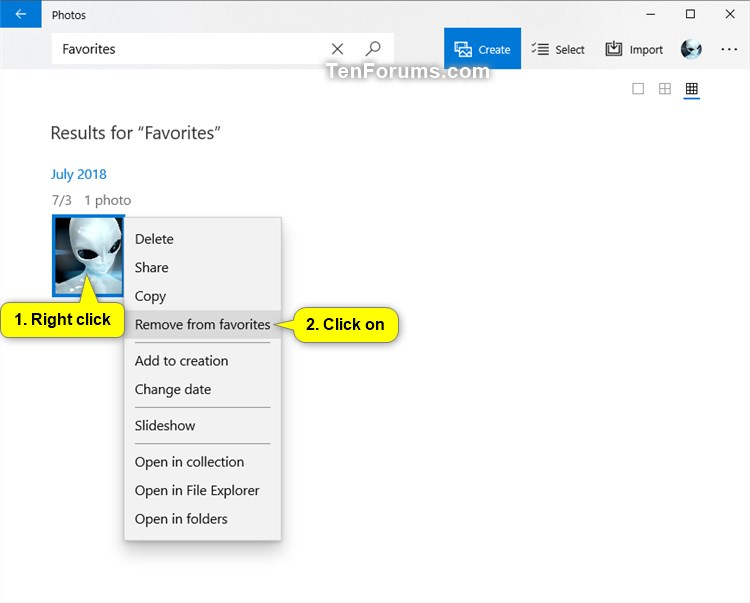 Add or Remove Favorites in Photos app in Windows 10-photos_remove_from_favorites-1.jpg
