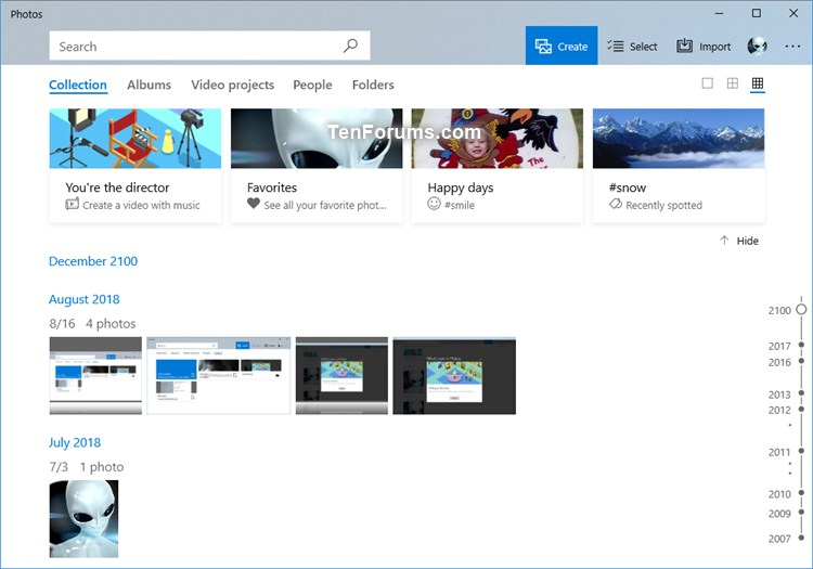 Add and Remove Folders in Photos app in Windows 10-collection_in_photos_app.jpg