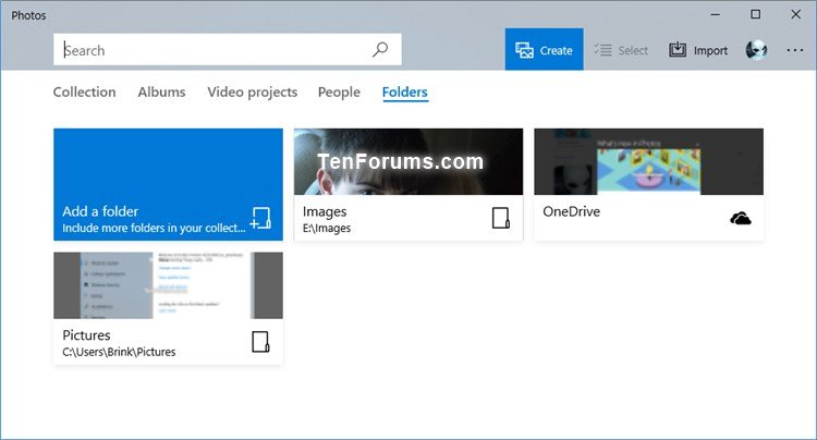 Add and Remove Folders in Photos app in Windows 10 | Tutorials