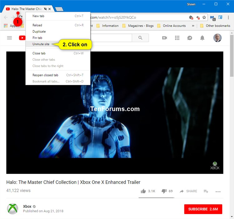 Allow or Block Sites to Play Sound in Google Chrome-unmute_site.jpg