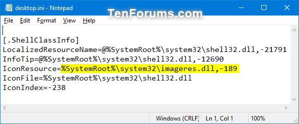 Change or Restore Videos Folder Icon in Windows-videos_folder_desktop.ini_file-1.png