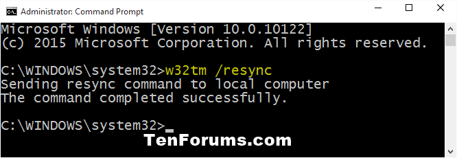 Synchronize Clock with an Internet Time Server in Windows 10-time_synchronize_command.png