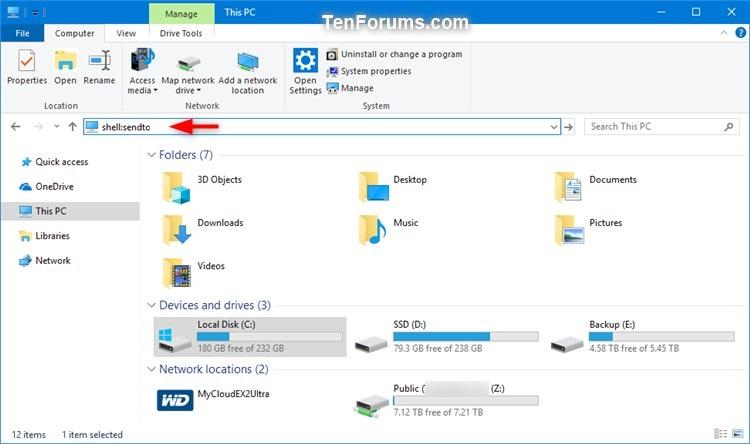 Change Send To Bluetooth Device Icon In Windows Tutorials