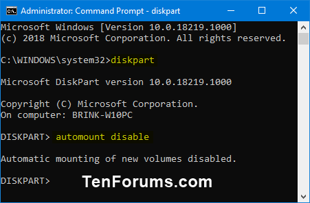 Enable or Disable Automount of New Disks and Drives in Windows-diskpart_automount_disable.png