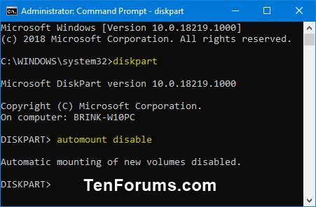 Name:  diskpart_automount_disable.png Views: 1350 Size:  13.8 KB