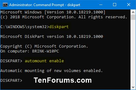 Name:  diskpart_automount_enable.png Views: 1067 Size:  13.7 KB