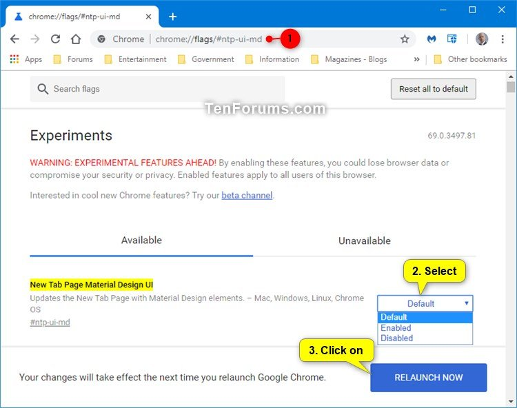 Enable or Disable New Tab Page Material Design UI in Google Chrome-chrome_new_tab_page_material_design.jpg