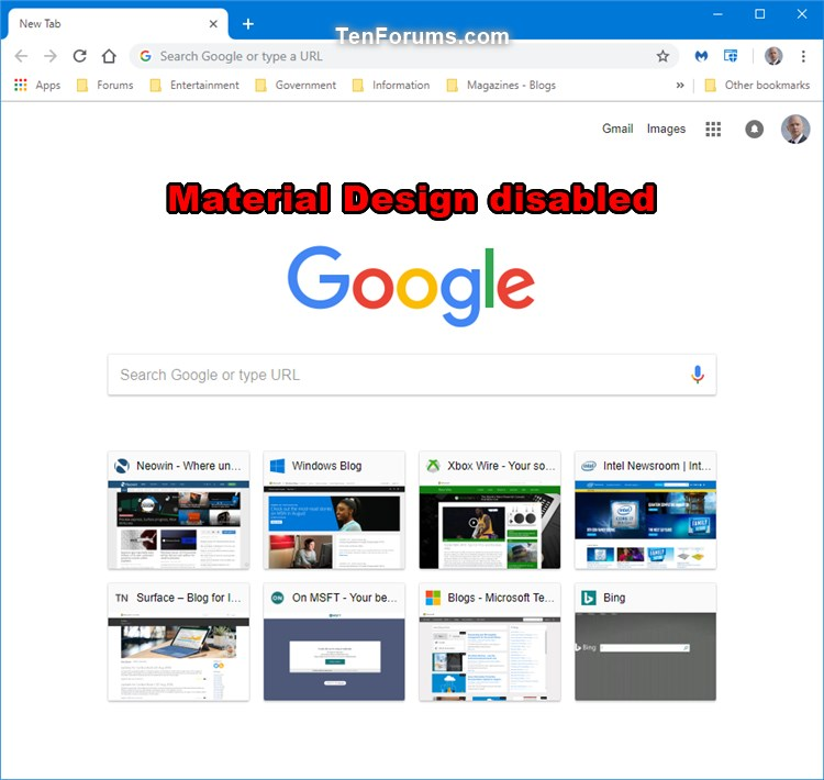 Enable or Disable New Tab Page Material Design UI in Google Chrome-chrome_new_tab_page_material_design_disabled.jpg