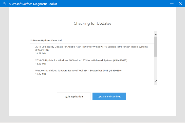 Use Microsoft Surface Diagnostic Toolkit in Windows 10