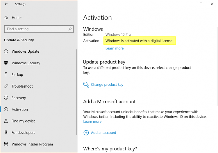 Link Microsoft Account to Windows 10 Digital License-activation.png