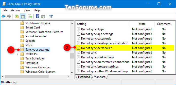 Enable or Disable Syncing Theme in Windows 10 Sync Your Settings | Tutorials