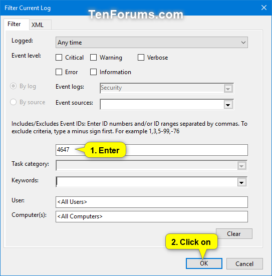 Read Logoff and Sign Out Logs in Event Viewer in Windows-user_initiated_logoff_event_logs-2.png