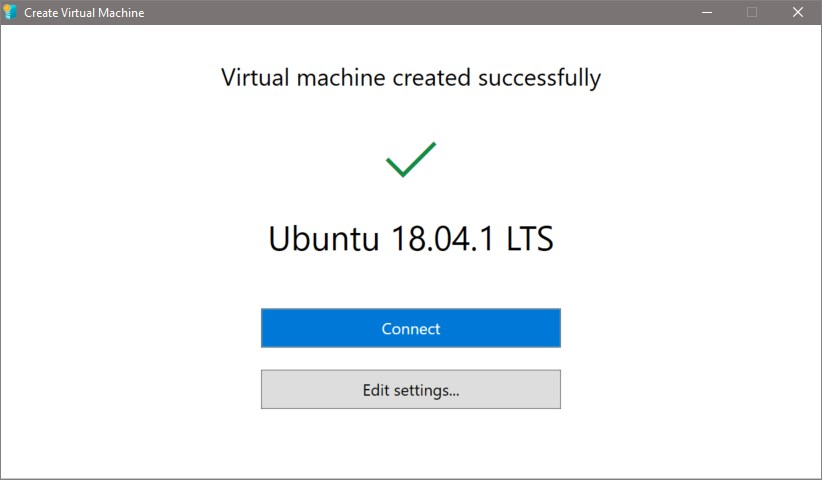 Hyper-V Quick Create - Setup Ubuntu Linux virtual machine