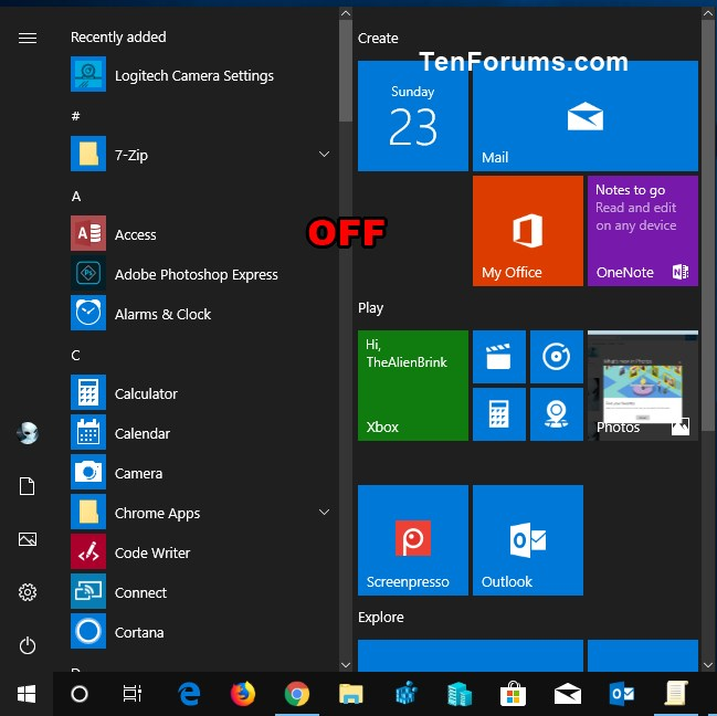 how to add tiles in windows 10