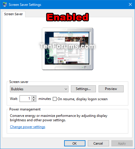 Enable or Disable Screen Saver in Windows | Tutorials
