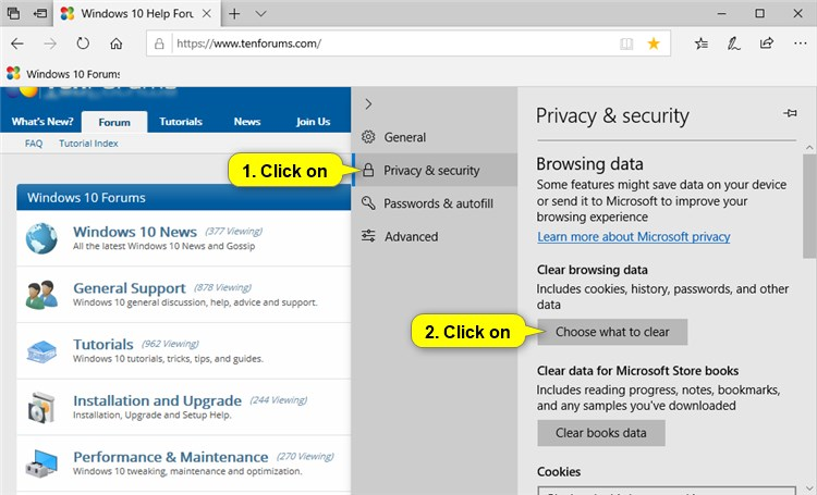 Turn On or Off Clear Browsing Data on Exit of Microsoft Edge