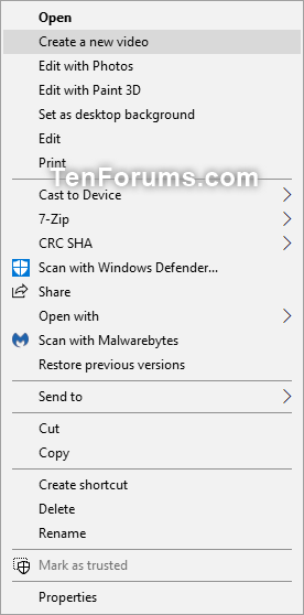 Add or Remove Create a New Video context menu in Windows 10-create_a_new_video_context_menu.png