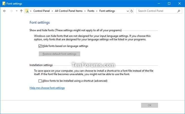 Restore Default Font Settings in Windows | Tutorials
