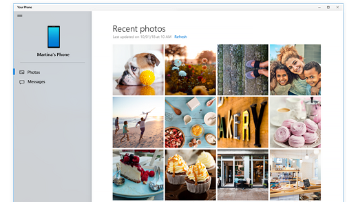 Turn On or Off Show Photos from Phone in Your Phone app on Windows 10-your_phone_photos.png