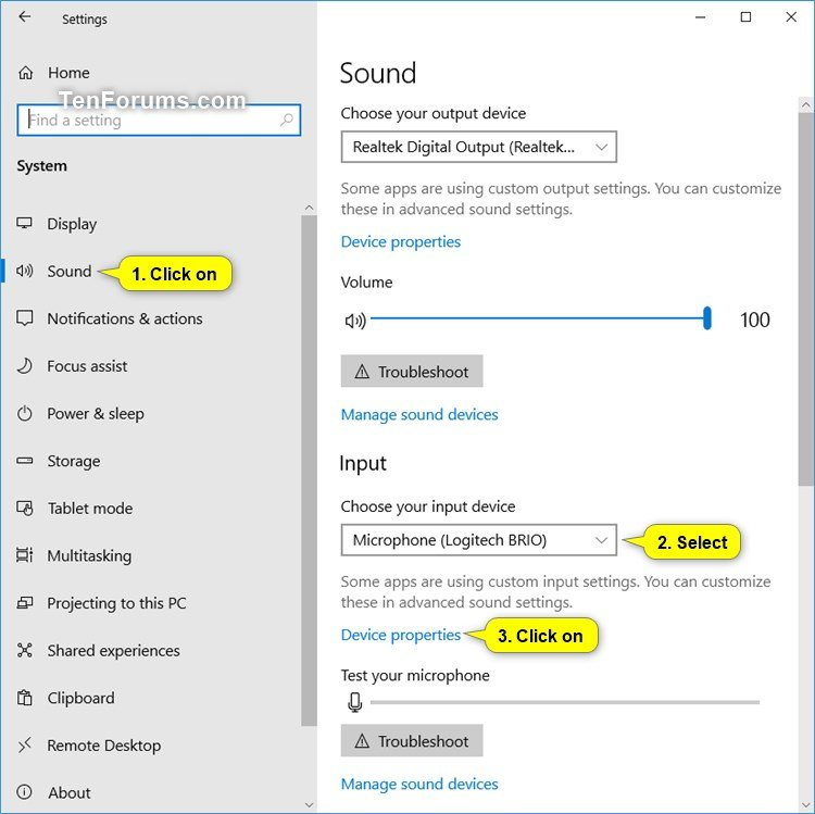 Enable or Disable Microphone in Windows | Tutorials