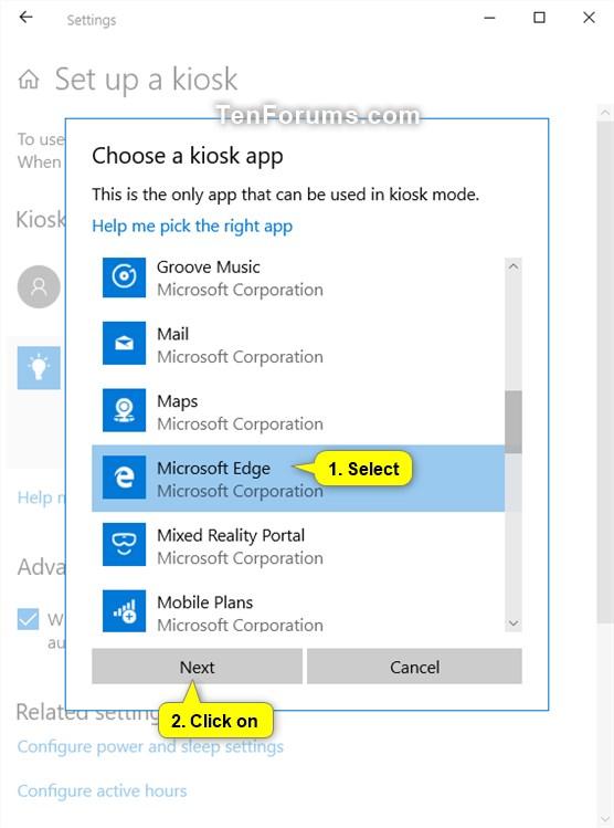 Change Kiosk App in Windows 10   Tutorials