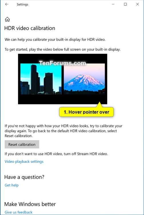 Calibrate Built-in Display for HDR Video in Windows 10