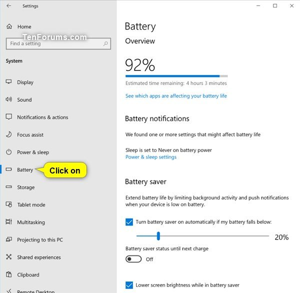 Optimize Battery Life on Windows 10 PC | Tutorials