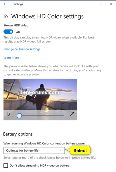 Optimize Battery Life on Windows 10 PC-hdr_video_playback_settings.jpg