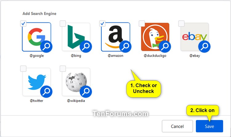 Add And Remove Search Engine Icons On New Tab Top Sites In Firefox Tutorials