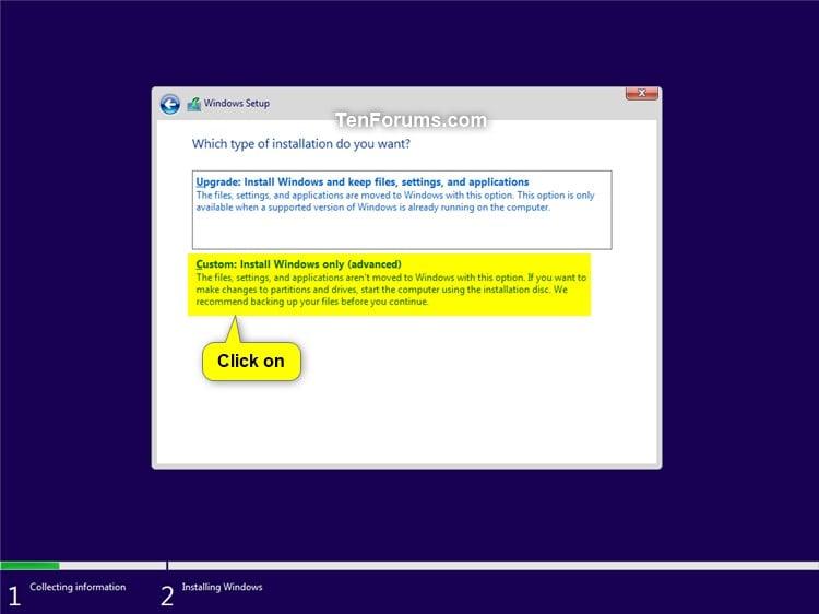 Custom Install Windows 10 | Tutorials