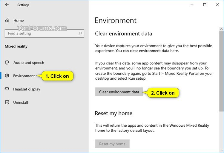 Clear Environment Data for Windows Mixed Reality in Windows 10-clear_environment_data_in_mixed_reality.jpg
