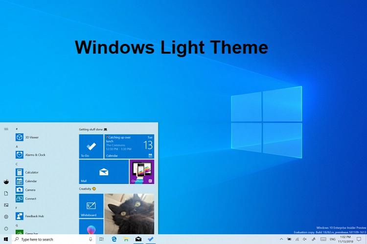 Change Default App & Windows Mode to Light or Dark Theme in Windows 10-windows_light_theme.jpg