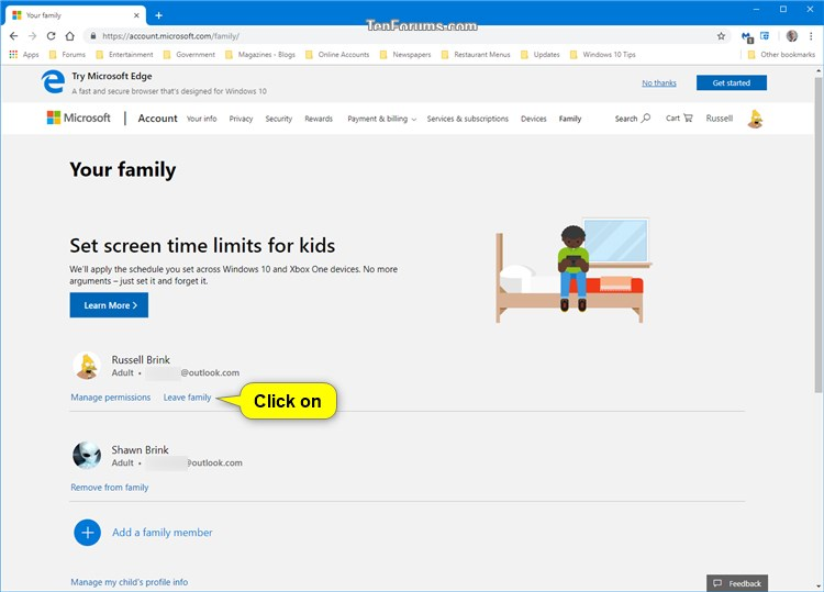 Add or Remove Adult Member for Microsoft Family Group in Windows 10-leave_family-1.jpg