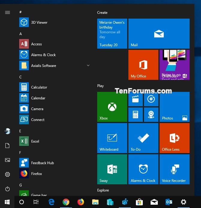 Add Windows Mode Context Menu for Light or Dark Theme in Windows 10-dark_theme_for_default_windows_mode.jpg