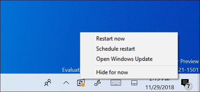 Turn On or Off Windows Update Restart Notifications in