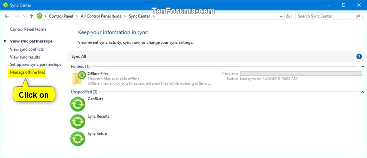 Enable or Disable Offline Files in Windows-sync_center.jpg