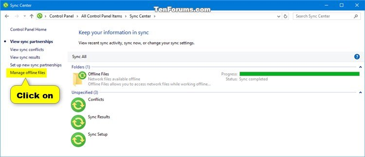Change Offline Files Disk Usage Limits in Windows | Tutorials
