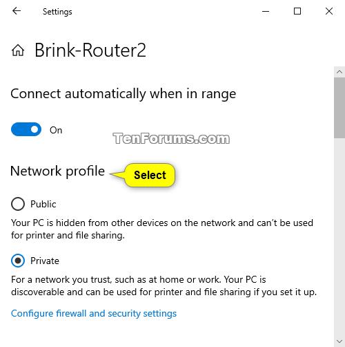 windows 10 private or public network