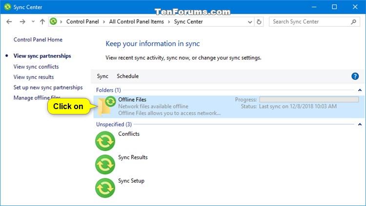 Manually Sync Offline Files in Windows-sync_center_sync-1.jpg