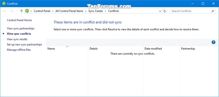 Add Sync Center Context Menu in Windows-sync_conflicts.jpg
