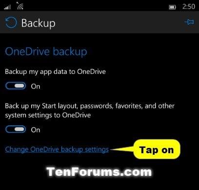 Backup windows 10 mobile phones create manage windows 10 phone backup