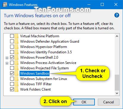 Enable or Disable Windows Sandbox in Windows 10 | Tutorials