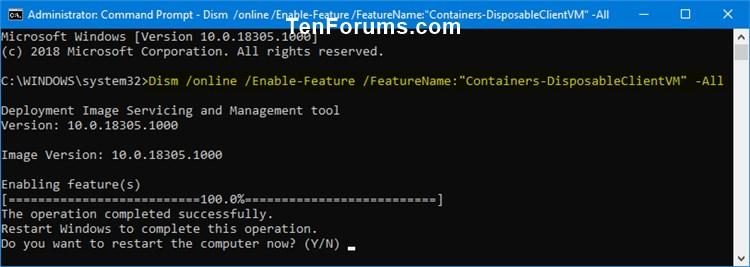 Enable or Disable Windows Sandbox in Windows 10-enable_windows_sandbox_in_command_prompt.jpg