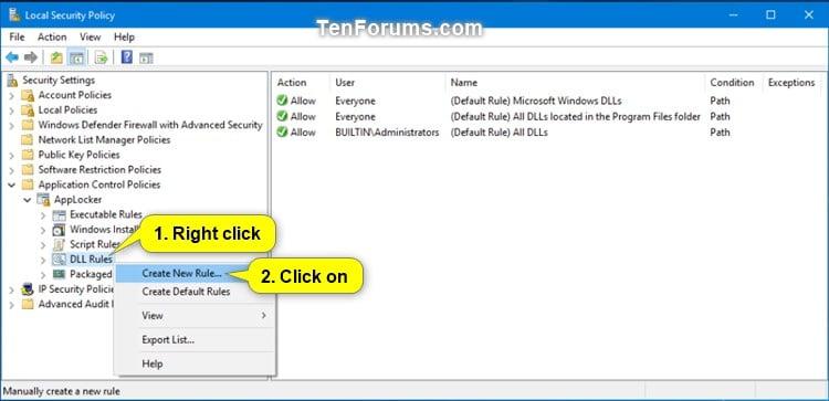 Use AppLocker to Allow or Block DLL Files from Running in