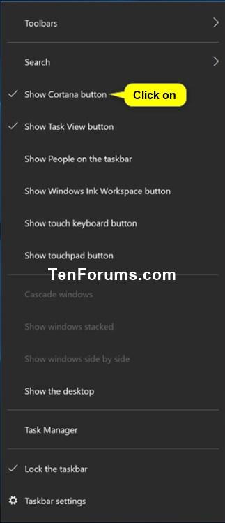 Hide or Show Cortana Button on Taskbar in Windows 10-show_cortana_button.jpg