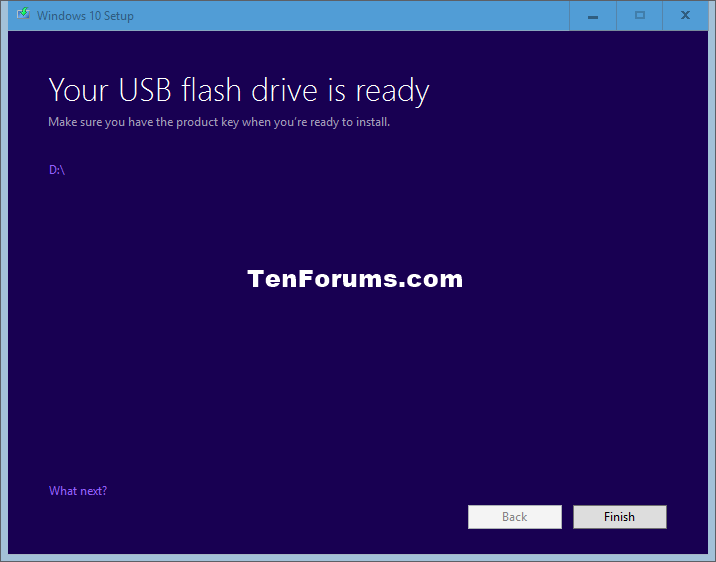 Start windows 10 bootable usb tool download