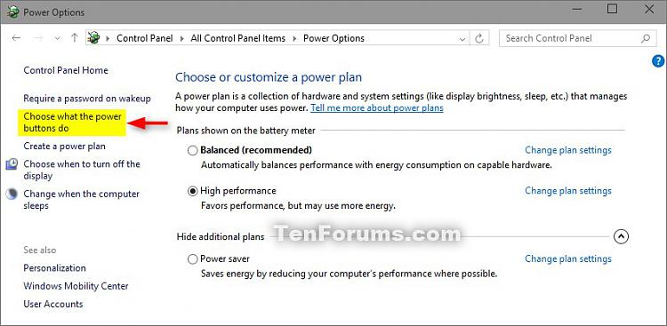Turn On Or Off Fast Startup In Windows 10 Tutorials