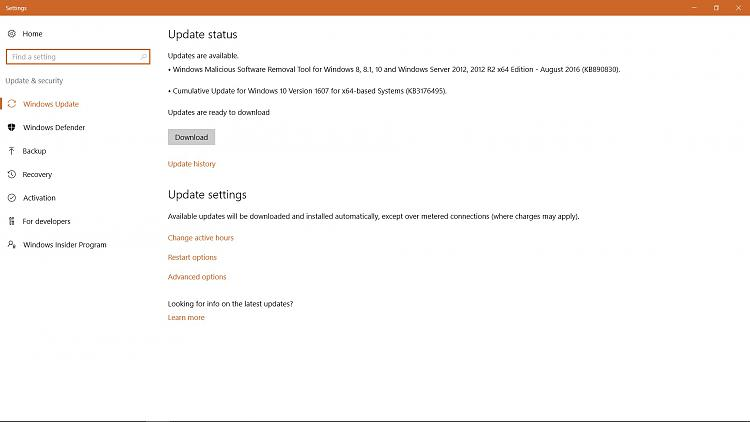 enable automatic updates windows 10 home