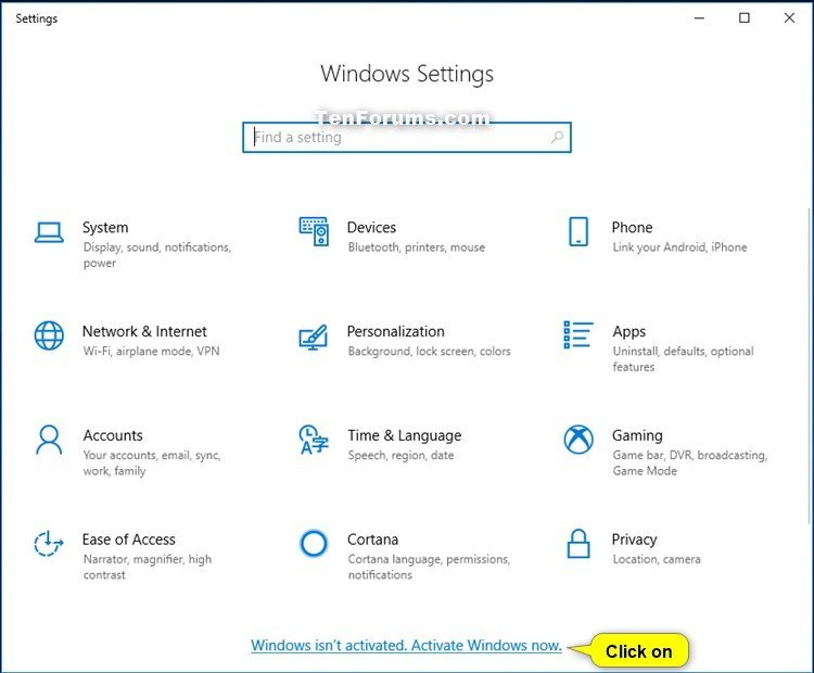 Activate Windows 10 | Tutorials