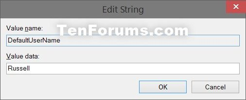 Sign in User Account Automatically at Windows 10 Startup-defaultusername.jpg